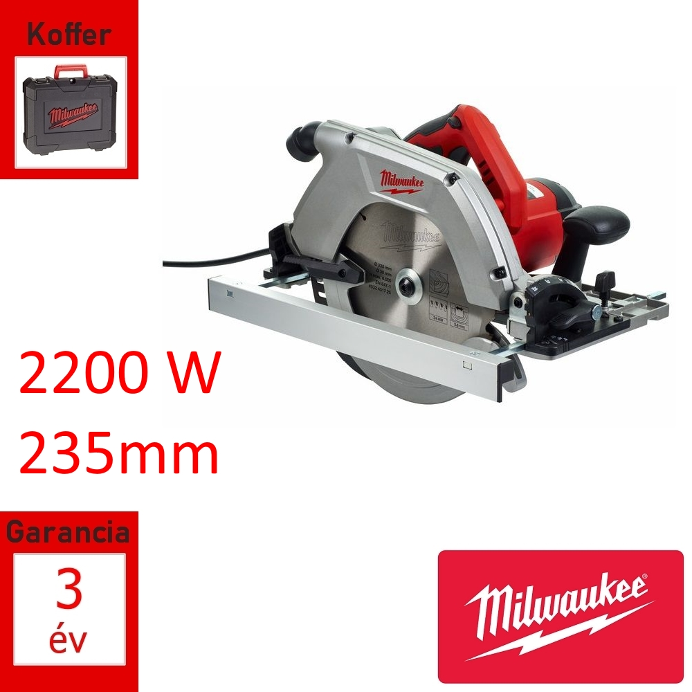 Milwaukee körfűrész 2200W 235mm + koffer