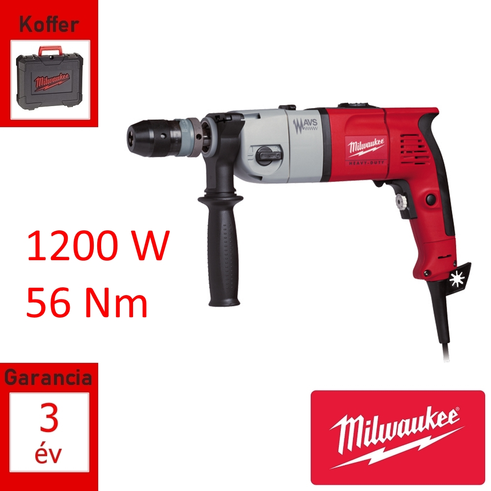 Milwaukee ütvefúró 1200W 56Nm + koffer