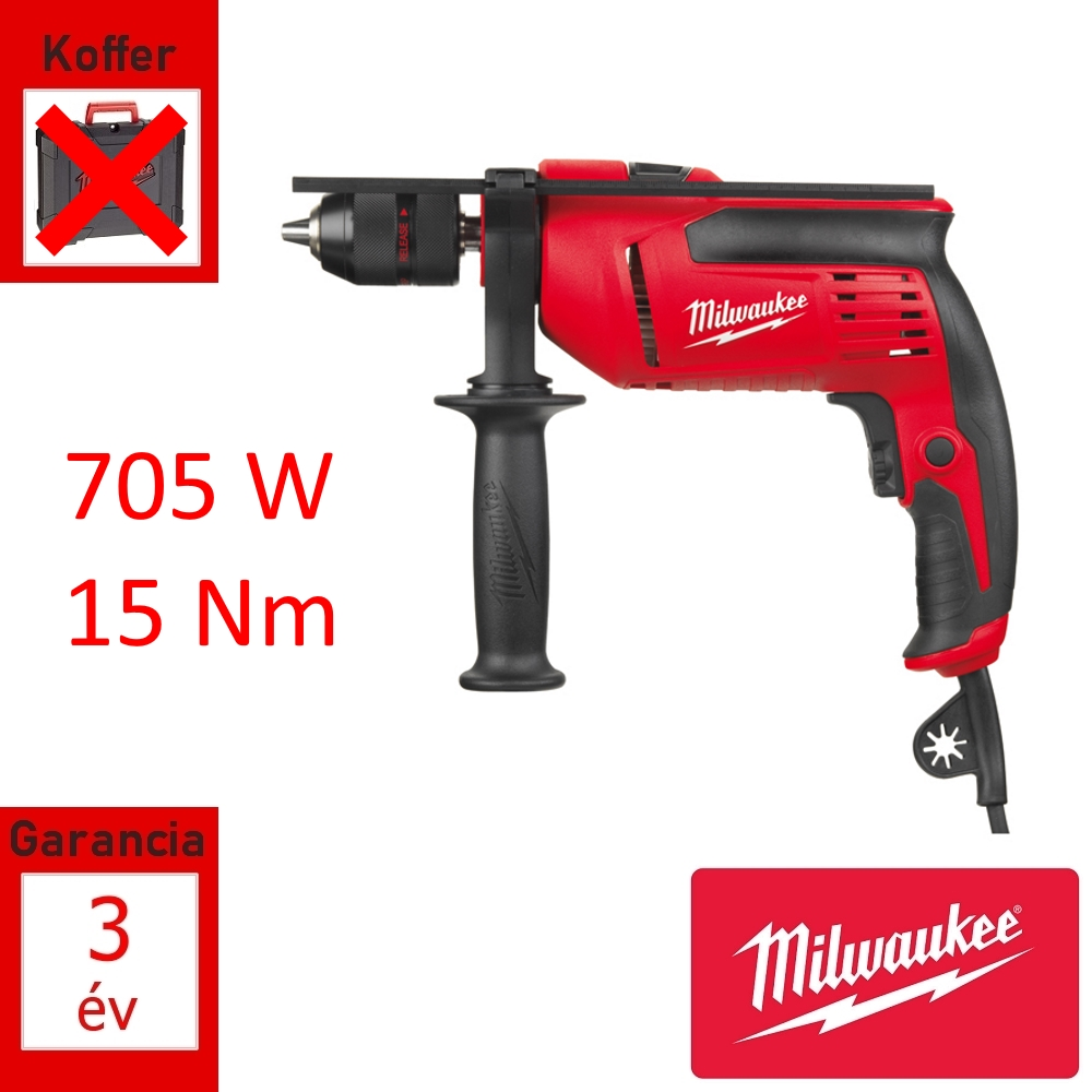 Milwaukee ütvefúró 705W 14Nm